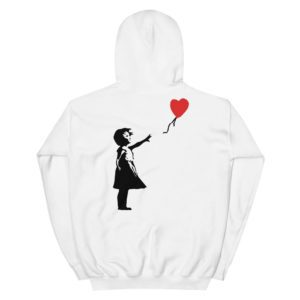 Streetwear Shop, Banksy Girl With Balloon Hoodie, breathin banksy
